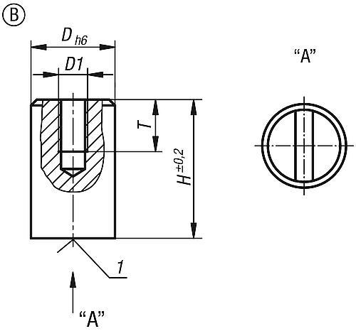 Stabgreifer mit Innengewinde aus SmCo, Zeichnung