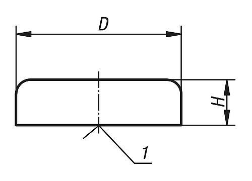 Flachgreifer aus Hartferrit, Zeichnung