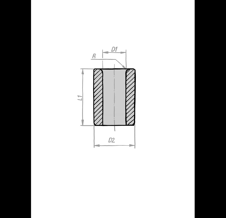Bohrbuchse DIN 179, Form A, an einem Ende gerundet