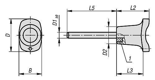 Steckbolzen mit magnetischer Axialsicherung