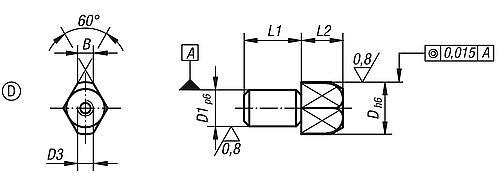 Aufnahmebolzen Form D, abziehbar
