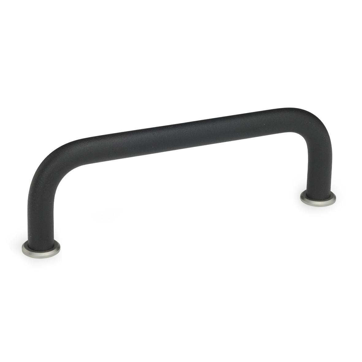 Bügelgriff 425, rund, Aluminium, schwarz, cover