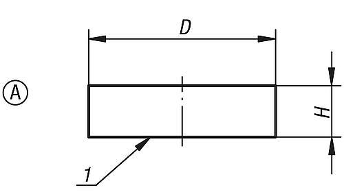 Flachgreifer aus SmCo, Zeichnung