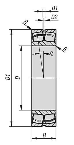 Pendelrollenlager-Zeichnung