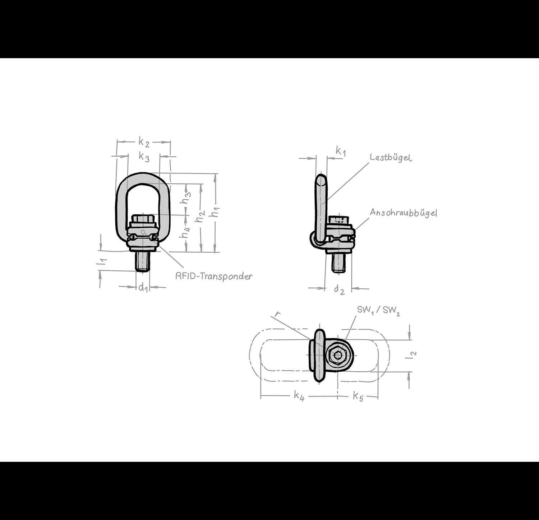 Drehbarer Lastbügel VLGB-Plus