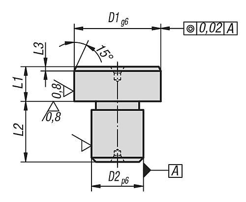 Positionsstift zylindrisch, Form A geschliffen