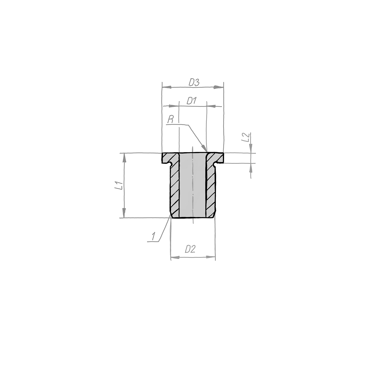 Bundbohrbuchse DIN 172, Form A, an einem Ende gerundet