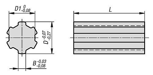 Keilwellen ähnlich DIN ISO 14