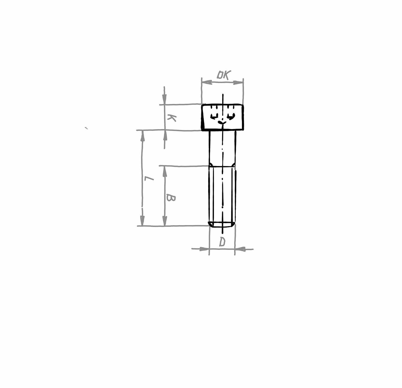 Zylinderschraube DIN 912 / DIN EN ISO 4762, Stahl blank, 8.8