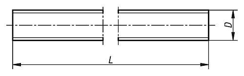 Gewindestange DIN 976-1 Zeichnung
