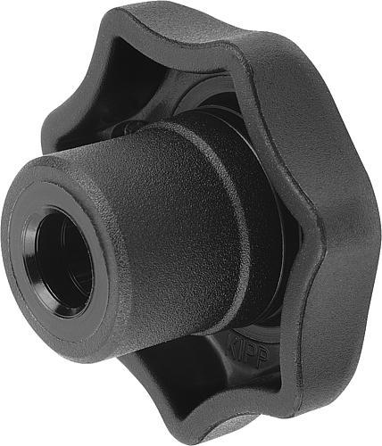 Sterngriff DIN 6336, Form G, ohne Buchse, Thermoplast, seitlich