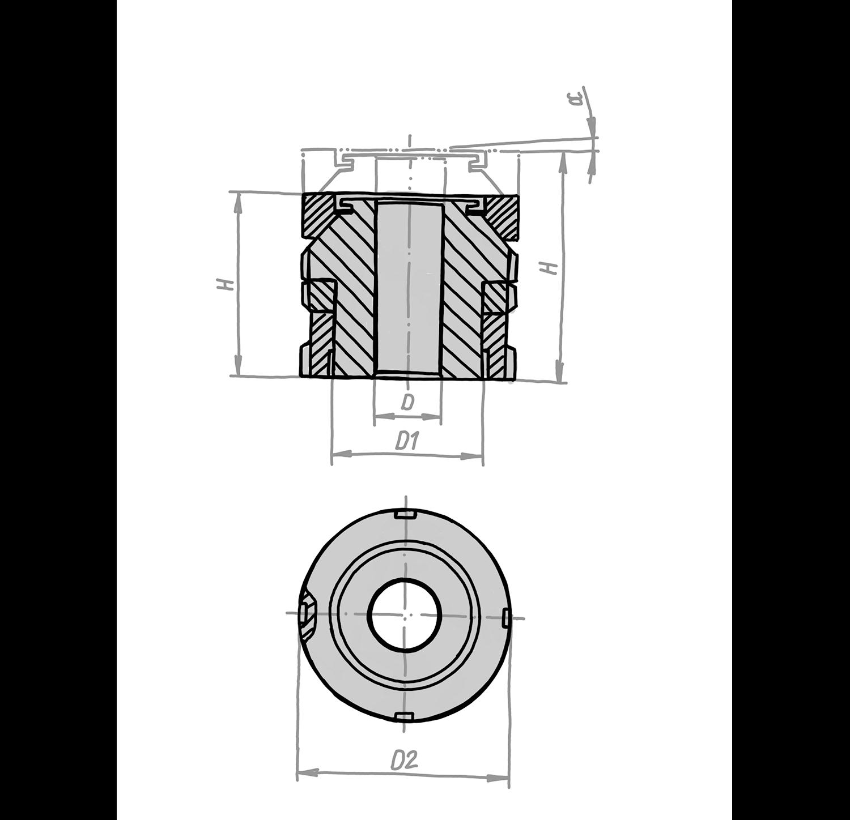 Kugel-Ausgleichselemente mit Kontermutter KAEK
