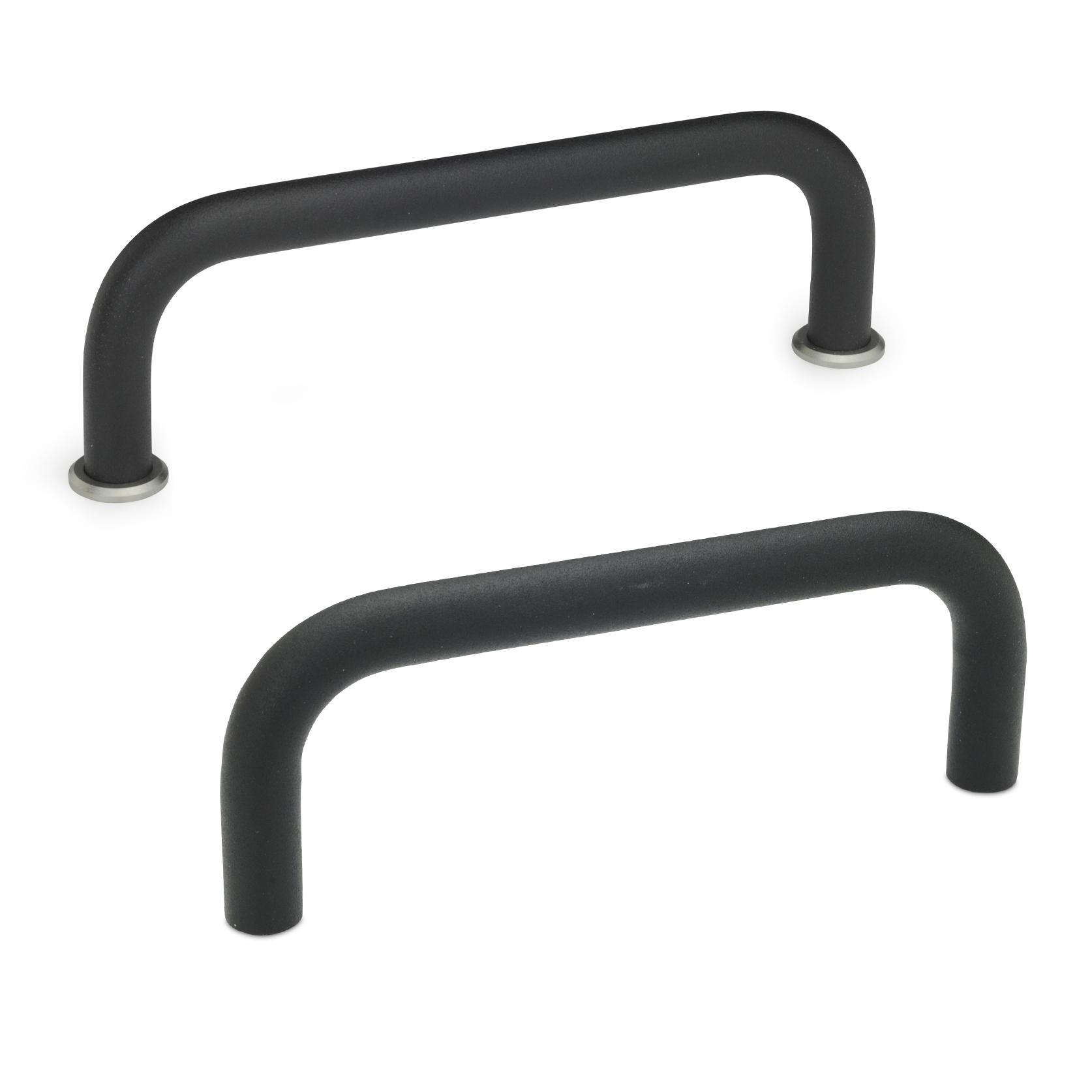 Bügelgriff 425, rund, Aluminium, schwarz