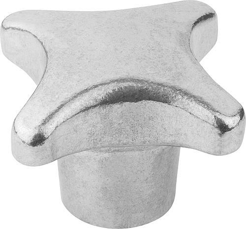 Kreuzgriff DIN 6335, Form E mit Gewindesackloch, gleitgeschliffen, Aluminium