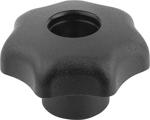 Sterngriff DIN 6336, Form D, Gewindebuchse, ohne Deckel, Thermoplast