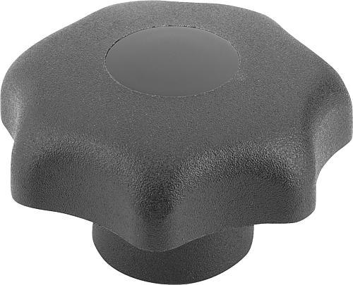 Sterngriff DIN 6336, Form G, ohne Buchse, schwarz, Thermoplast