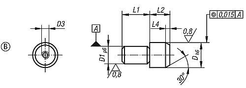 Aufnahmebolzen Form B, abziehbar