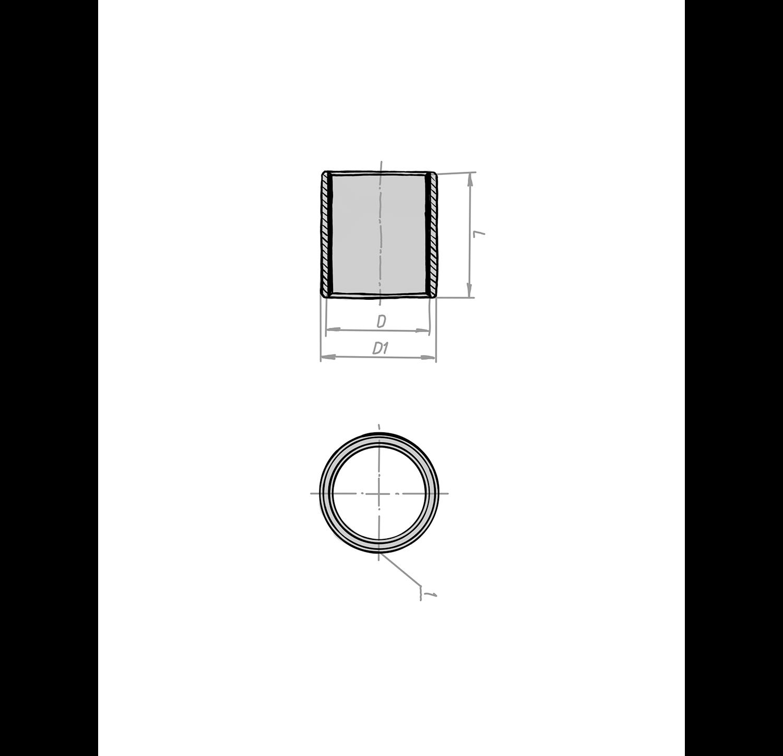 Gleitlager zylindrisch mit PTFE Beschichtung