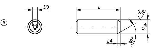 Aufnahmebolzen Form A, abziehbar