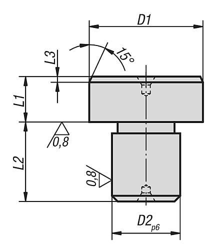 Positionsstift zylindrisch, Form B ungeschliffen
